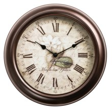 "Equity by La Crosse Technology 12"" Metal Wall Clock in Brown - Overstock"