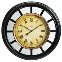 "Equity by La Crosse Technology 22"" Mirror Clock in Black"