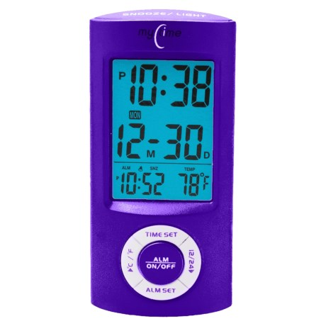 Equity by La Crosse Technology Digital Pocket Alarm in Purple