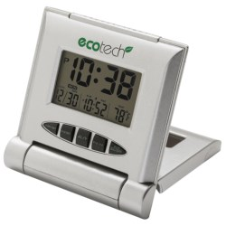 Equity by La Crosse Technology Hybrid Solar Travel Alarm in Silver