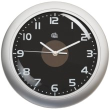 "Equity by La Crosse Technology Hybrid Solar Wall Clock - 12"" in Silver/Black - Closeouts"