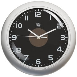 "Equity by La Crosse Technology Hybrid Solar Wall Clock - 12"" in Silver/Black"