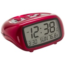 Equity by La Crosse Technology LCD Digital Alarm Clock with Temperature in Red - Closeouts