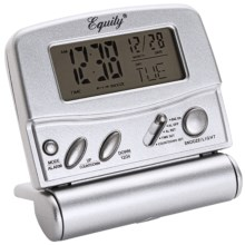 Equity by La Crosse Technology LCD Digital Fold-Up Travel Alarm in Silver - Overstock