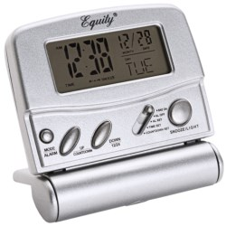 Equity by La Crosse Technology LCD Digital Fold-Up Travel Alarm in Silver