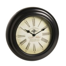 "Equity by La Crosse Technology Metal Wall Clock - 10"" in Black - Overstock"