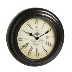 "Equity by La Crosse Technology Metal Wall Clock - 10"" in Black"