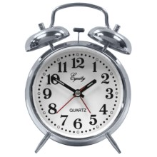 Equity by La Crosse Technology Quartz Alarm Clock in Chrome - Overstock