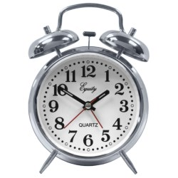 Equity by La Crosse Technology Quartz Alarm Clock in Chrome