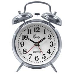 Equity by La Crosse Technology Quartz Alarm Clock in Chrome