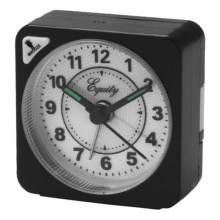 Equity by La Crosse Technology Quartz Travel Alarm - Analog in Black - Closeouts