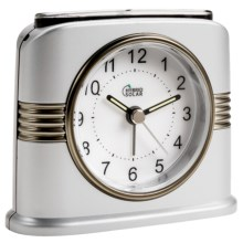 Equity by La Crosse Technology Solar Analog Alarm Clock in Silver - Overstock