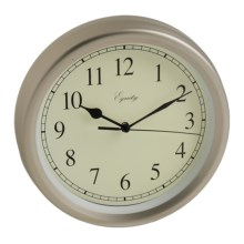 "Equity by La Crosse Technology Wall Clock - 8"", Brushed Titanium in Titanium - Overstock"