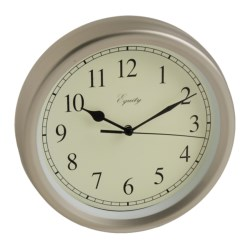 "Equity by La Crosse Technology Wall Clock - 8"", Brushed Titanium in Titanium"