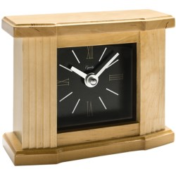 Equity by La Crosse Technology Wooden Mantel Clock in Dark