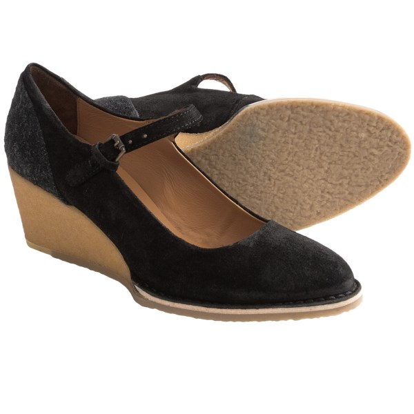 Lisa B. and Co. Suede Wedge Shoes - Mary Janes (For Women)