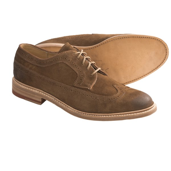 Frye James Suede Wingtip Shoes (For Men)