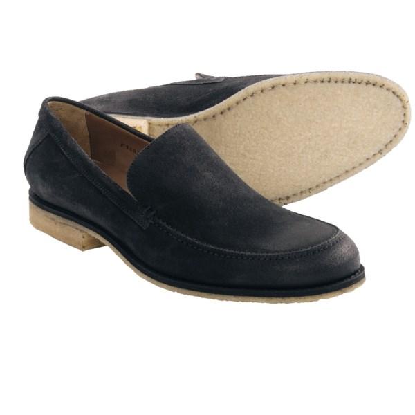 John Varvatos Monaco Crepe Sole Venetian Loafer Shoes - Suede (For Men)
