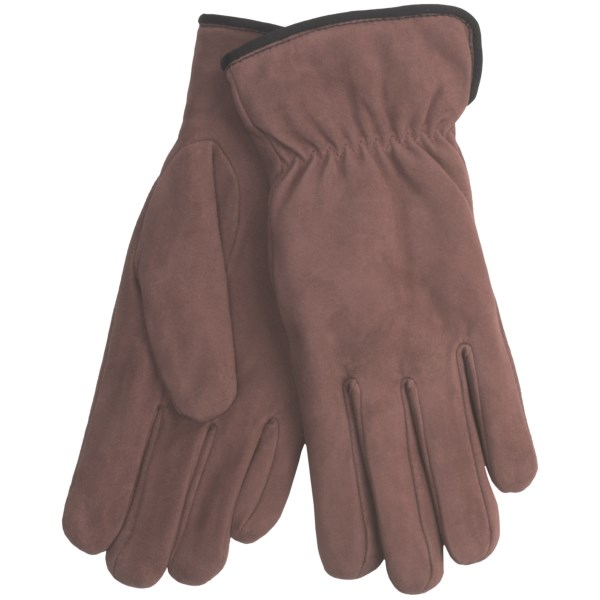 CLOSEOUTS . You might want a pair of these Cire by Grandoe Weekend gloves in every color... deep within the supple sheepskin suede lies a layer of lush micropile to warm your fingers. Available Colors: BURNT ORANGE, BOYSENBERRY, DARK ROSE, DEEP PURPLE, NEW NAVY, OLVINO, PINK ROSE, DARK GREEN, BLACK, BROWN, TAN, HAZELNUT, ACORN, BLUEBERRY, COPPER, EGGPLANT, GOLDENROD, PLUM, RED, SADDLE, 12. Sizes: S, M, L, XL, XS.