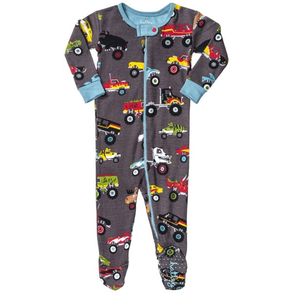 CLOSEOUTS . Nothing like a sweet pair of footie pajamas to delight the smaller set! Hatley's printed footie pajamas are lightweight and colorfully printed in a variety of animal-themed graphics. Available Colors: MOOSE ON EARTH GREEN, FUN DOG ON WHITE, PENGUIN ON HATLEY RED, OWLS ON OATMEAL, BLACK BEAR ON NATURAL, WELL BRED HORSE ON CANDY PINK, NATURE ROCKS ON WHITE, DOG PARK ON LUNETTE, GO FISH! ON BLUE CUARCOA, APPLE ON EGG WHITE, WILD PIRATES! ON ATHLETIC GREY, ALIENS, POLKA DOTS, PINK SEA TURTLES, BLUE SEA TURTLES, SEA SHORE, BEAR COUNTRY, STEEL MOOSE, SHARK BEACH, WINTER SPORT, WINTER WONDERLAND, ROSY AFTERNOON, SUPER HERO, BLUE GRASS BEARS, CAMP, YOUNG BUCK, PURRRFECT BALLERINA, SAILING DOGS, HUNTER JUMPER, CHRISTMAS ANIMALS, CREEPY BUGS, SOCIAL BUTTERFLIES, LATER ALLIGATOR, PINK ELEPHANTS, DESERT HORSES, GAME FISH, MUSICAL INSTRUMENTS, NORTHERN LEOPARD FROGS, SURFER GIRL, MAKING THE MOOSE OUT OF LIFE, 36, 37, RUNNING HORSES, KNIGHTS andamp; DRAGONS, BLUE WHALES, SWEATER CATS, PIRATE DOGS, SPACE SHIPS, FLYING BUTTERFLIES, ICE MONSTER, HATLEY ORNAMENTS, TRAINS, MONSTER TRUCKS, BEAR THE BUILDER, MOOSE ON RED, PAPERCUT CHRISTMAS. Sizes: 3-6M, 6-12M, 12-18M, 18-24M, 3/6M, 6/12M, 12/18M, 18/24M, 0/3M.