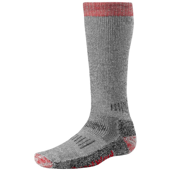 SmartWool Merino Wool Extra Heavyweight Hunting Socks (For Men and Women)   GREY/RED (M )