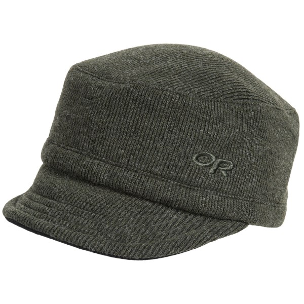 CLOSEOUTS . Outdoor Research's Exit wool cap adds verve to your appearance and keeps your head comfortably warm and protected. Available Colors: BLACK, POMEGRANATE, CRYSTAL, FATIGUE, REDWOOD, EVERGREEN, BRICK. Sizes: S, M, L, XS, XL, 2XL, 2XS.