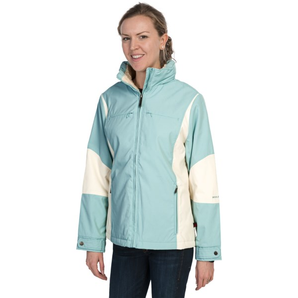 CLOSEOUTS . Woolrich's Teton parka is the perfect weight for between-seasons transitions ? and made with a water-resistant shell for repelling light sleet or rain. Durable jacket has soft faux fur lining in the upper body and lightweight Arctic Insulation in the lower body and sleeves. Available Colors: SEAFROST, BLUE OPAT, SAGE, MERLOT, BLACK. Sizes: XS, S, M, L, XL.
