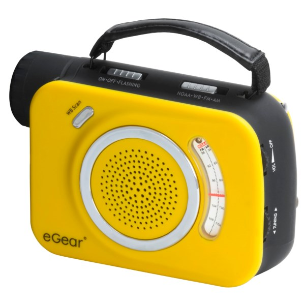 eGear Dynamo Weatherband/AM/FM Radio with 3-LED Light
