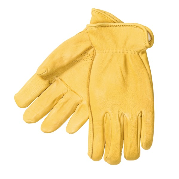 CLOSEOUTS . Made of genuine full-grain elkskin and lined in warm, non-bulky Thinsulate(R) insulation, these rugged gloves from North American Trading are ideal for working in colder weather. Available Colors: TAN. Sizes: S, M, L, XL, 2XL, 3XL.