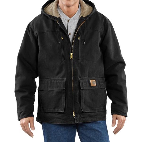 Carhartt Sandstone Jackson Coat - Sherpa Lined (for Men)