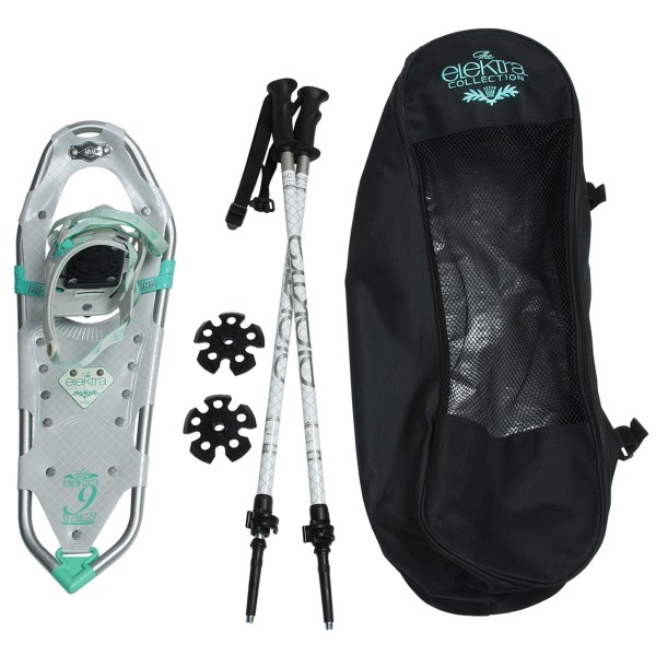Atlas Elektra 923 Snowshoes Kit Snowshoes and Poles For Women