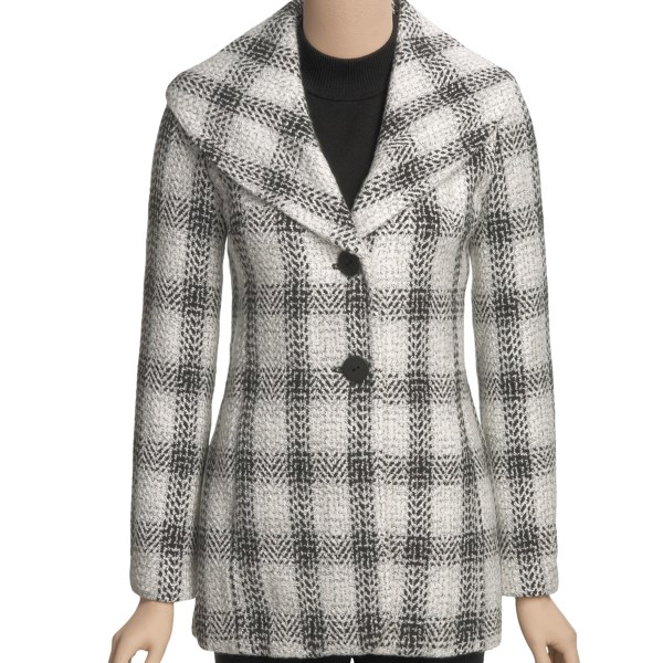 madison hill boucle plaid jacket (for women)