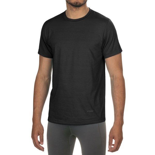 CLOSEOUTS . Take no chances on comfort with Terramar's Dri-Release(R) T-shirt that repels odor and moisture. Available Colors: BLACK, WHITE, GREY HEATHER, BLUE, RED, COBALT, FLAME, CITRUS, BRIGHT BLUE, BRIGHT ORANGE, GREY, OLIVE, RUSSETT, INDIGO, LAGOON, LIMELIGHT, BRICK. Sizes: S, M, L, XL, 2XL.
