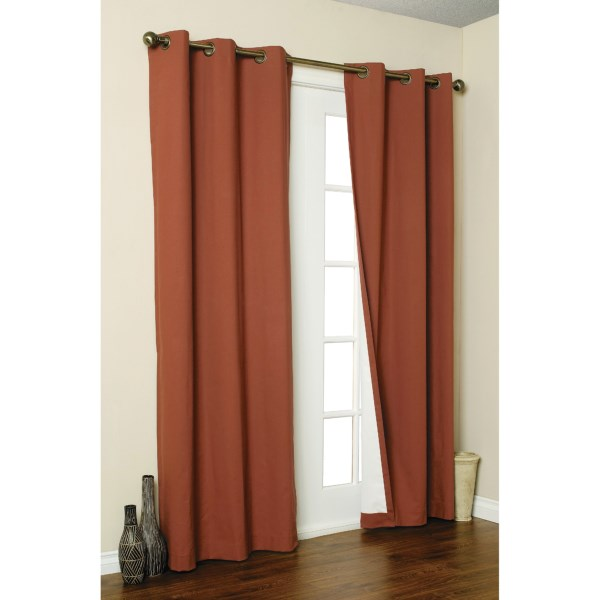 """Thermalogic Weathermate Curtains - 160x 84,"""" Grommet-Top, Insulated"""