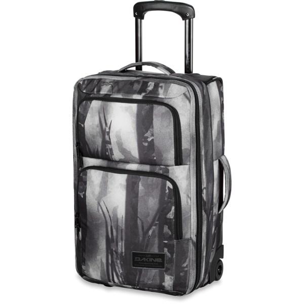 CLOSEOUTS . This suitcase takes DaKine's hip, contemporary style and combines it with the convenience of a classic carry-on design for easy travel. Available Colors: HERRINGBONE, BLACK, BLACK PATCHES, ALPINE PLAID, CHECKS/BLACK, AVALON, GENEVE, HOUNDSTOOTH, LUNA, TARTAN, PHANTOM, FORDEN, BLACK STRIPES, FREMONT, NORTHWOOD, STENCIL, BRIDGEPORT, PALAPA, BELLE, FLOURISH, SKYLER, SIERRA, HIGHLAND, JASMINE, VIENNA, NORTHWEST, VERA, AZURE, JULIET, GLACIER, SMOLDER, BLUFLOWERS, RGTTASTRPS, SALIMA, TAOS, KAMALI.