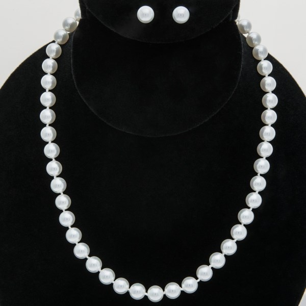 Joia De Majorca Necklace and Earring Set - Man-Made Pearl