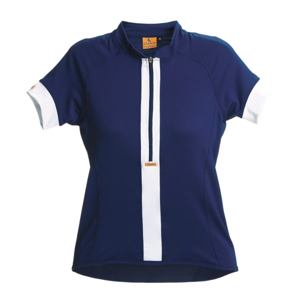 Discount clothing stores Luna Sport Clothing Stripe Cycling Jersey - Half-Zip, Short Sleeve (For Women)