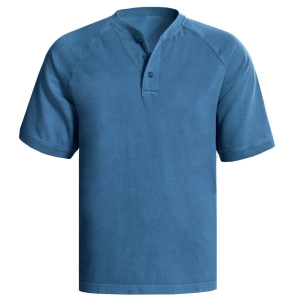 CLOSEOUTS . A shirt for all occasions -- be it yard work, camping trips, day hikes or weekend lounging -- the Woolrich First Forks henley shirt is durably constructed of 100% cotton, with rib-knit cuffs and three-button placket. Available Colors: BEET, LIGHT OLIVE, NAVY, STONE, BUTTER, CITRUS, LAGOON, SHALE, WASABI, BOTTLE GREEN, DEEP INDIGO, PACIFIC BLUE. Sizes: M, L, XL, 2XL, S.