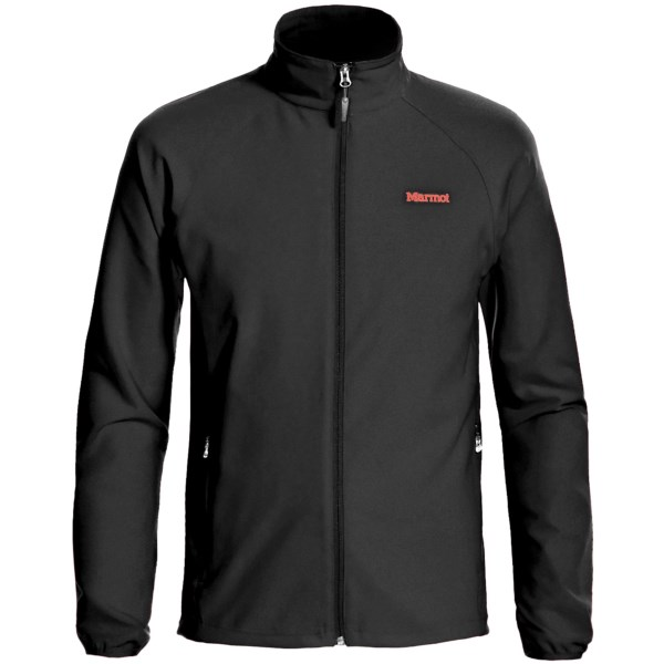 CLOSEOUTS . It's hard to beat a soft shell when it comes to performance layering. Whether in town or on the trail, the lightweight Marmot Aber jacket keeps you protected and comfortable without inhibiting mobility. Available Colors: BLACK, BLUE OCEAN, CARDINAL, GARGOYLE, COBALT BLUE, TEAM RED, CINDER, PEAK BLUE. Sizes: S, M, L, XL, 2XL, XS.