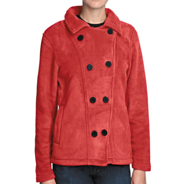 CLOSEOUTS . Classic style is recreated in this modern, warm, breathable fleece Boston pea coat from Avalanche Wear. Available Colors: BLACK, REIGN, BERRY, CHOCOLATE, RABBIT, BLANC, POMEGRANATE, VINTAGE VIOLET, BLANC/STEEL. Sizes: S, M, L, XL.