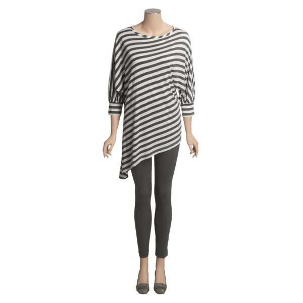 180s Stripe Tunic Shirt - 3/4 Sleeve (For Women)