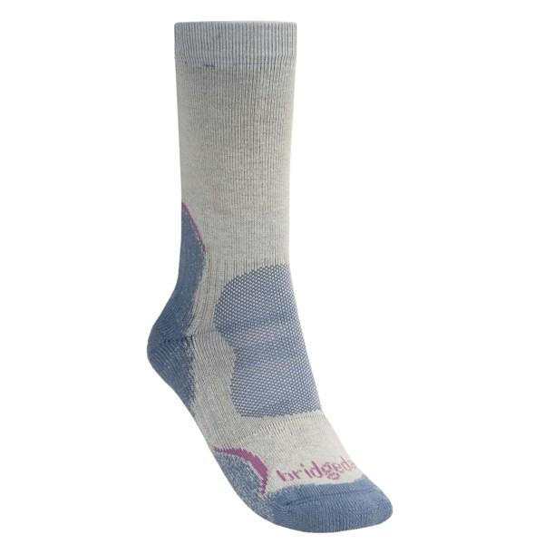 Bridgedale Hiker Socks   CoolMax(R) (For Women)   CHOCOLATE (S )