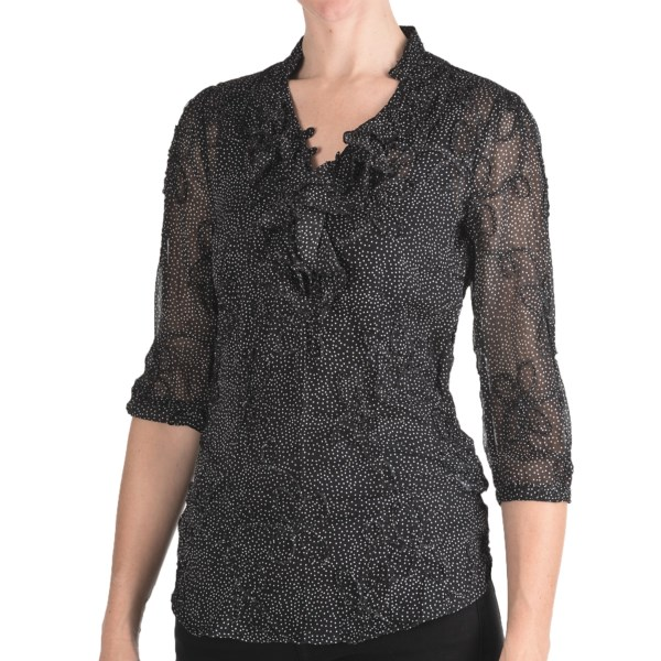 Stetson Textured Chiffon Shirt - 3/4 Sleeve (For Women)