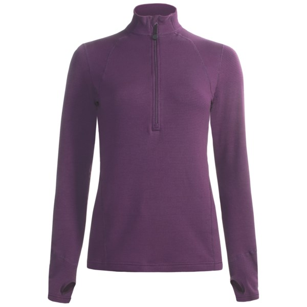 Terramar Hot Totties Grid Fleece Half Zip Shirt
