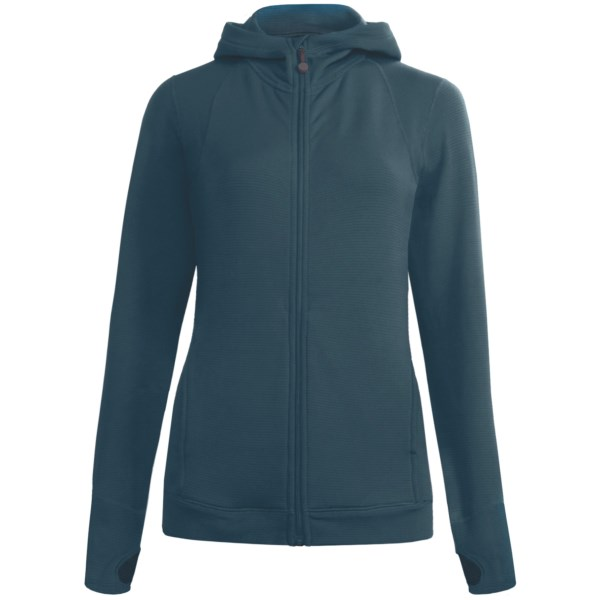 Terramar Hot Totties Grid Fleece Full Zip Hoodie Top