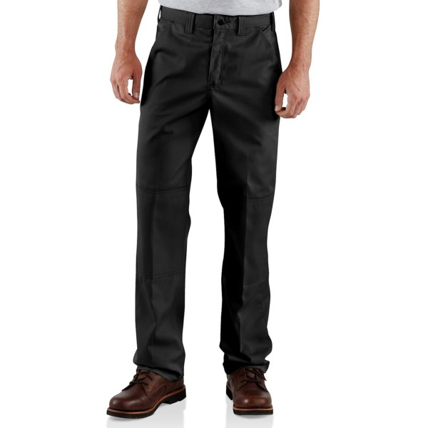 2NDS . Whatever you dish out, Carhartt's twill double-knee work pants take it in stride with durable, wrinkle- and stain-resistant 8.5 oz. twill, relaxed fit and double-layer knees. Available Colors: NAVY, KHAKI, DARK GREY, BLACK.