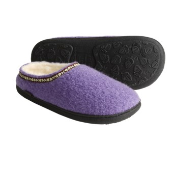 acorn boiled wool mule slippers  for women   click product once to zoom