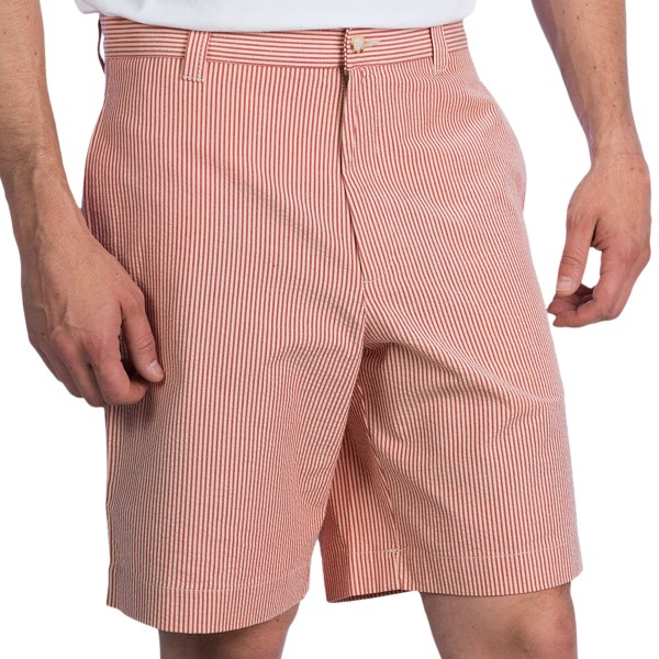 Charleston Khakis Seersucker Shorts - Flat Front (For Men)