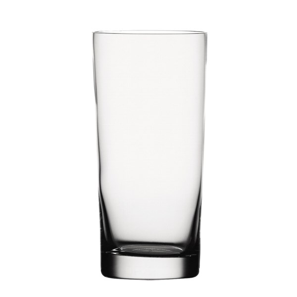 Overstock . Gracing the tables of many fine restaurants and homes around the world, Spiegelau glassware -- here offered in a set of two classic bar longdrink XL glasses -- is famous for its brilliant shine, durability and ability to emerge from dishwasher cycles good as new.      Elegant Spiegelau glassware is made in Germany of lead-free crystal    All glassware passes through an exclusive platinum process to eliminate impurities, increase durability, and produce a brilliant shine    Certified extremely dishwasher safe, means no scratching, loss of brilliance, foggy shadows, or build-up of chemicals or residue    Set of two     Height:  6-and#189;andquot;     Diameter:  3andquot;     Capacity:  18 fl.oz.     Weight:  11.3 oz. each     Material:  Glass     Care:  Dishwasher safe    By Spiegelau of Germany    Made in Germany     Available Colors: CLEAR.
