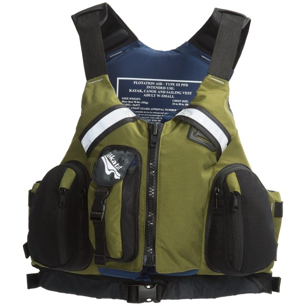 CLOSEOUTS . Kokatat's MsFit Tour PFD is designed for hardcore aquatic adventure. It's made for maximum buoyancy, durability and mobility, and features easy access pockets for stowing essentials like your knife, food and GPS. Available Colors: BERRY, GLACIER, MANGO, ORANGE, RED, CANVAS, OLIVE. Sizes: M, L, XL, S.